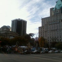 Photo taken at Occupy Vancouver Protest by Heather W. on 10/20/2011