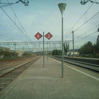 Photo taken at RENFE Sant Vicenç de Castellet by Marta on 5/8/2012