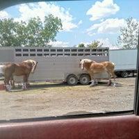 Photo taken at Tramell trucking yard by Michael J. W. on 7/11/2012