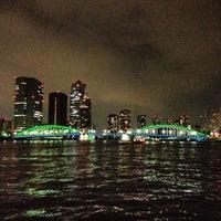 Photo taken at Kachidoki Bridge by Mizuho S. on 8/17/2012