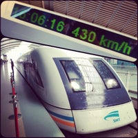 Photo taken at Maglev Train Longyang Road Station by Claudio P. on 6/28/2012
