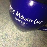 Photo taken at Bleu Monkey Cafe by Lauren L. on 2/23/2012