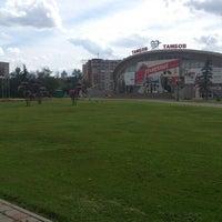 "Photo taken at Площадь перед ЛДС ""Кристалл"" by Dmitry V. on 7/21/2012"