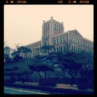 Photo taken at 감리교신학대학교 by Yongsang Aiden K. on 3/5/2012