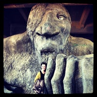 Photo taken at The Fremont Troll by Kathleen on 4/2/2012