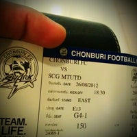 Photo taken at Chonburi F.C. Superstore by Bumrungsin S. on 8/14/2012
