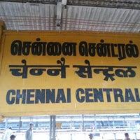 Photo taken at Chennai Central Sub Urban Station by Aditya A. on 8/16/2012