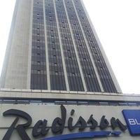 Photo taken at Radisson Blu by Christian P. on 7/5/2012