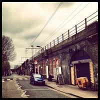 Photo taken at E5 Bakehouse by Adriaan P. on 2/27/2012