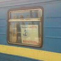 Photo taken at Поезд №77 Москва – Мариуполь by Victor T. on 9/2/2012