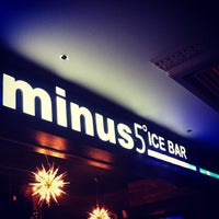 Photo taken at Minus5° Ice Lounge by Edwin on 5/20/2012