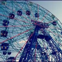 Photo taken at Deno's Wonder Wheel by Joseph P. on 8/13/2012