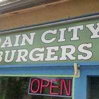Photo taken at Rain City Burgers by Larry M. on 7/13/2012