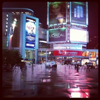 Photo taken at Yonge-Dundas Square by Rannie T. on 6/5/2012
