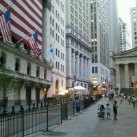 Photo taken at Wall Street by NYCphotos on 7/28/2012