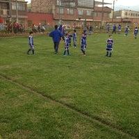 Photo taken at Cancha de Fútbol La Estradita by John V. on 3/17/2012