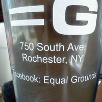 Photo taken at Equal Grounds Coffeeshop & Books by Nate E. on 8/26/2011
