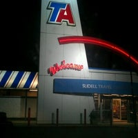 Photo taken at TravelCenters of America by Pup A. on 12/15/2011