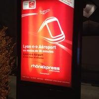 Photo taken at Station Aéroport Lyon Saint-Exupéry [Rhônexpress] by Nick L. on 1/26/2012