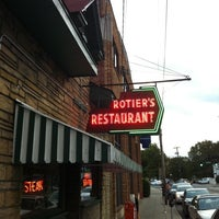Photo taken at Rotier's Restaurant by Brian G. on 9/28/2011