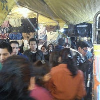 Photo taken at Tianguis Escuadrón 201 by Oscar V. on 1/6/2012