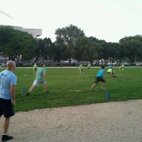 Photo taken at NAKID Kickball Fields by Ramana R. on 9/13/2011