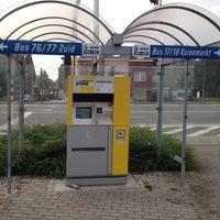 Photo taken at Halte Sint-Amandsberg P+R Oostakker by Joel C. on 8/28/2012