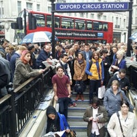 Photo taken at Oxford Circus London Underground Station by Janis L. on 5/18/2012