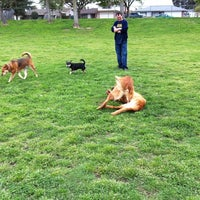 Photo taken at Vinewood Dog Park by Amy R. on 3/25/2012