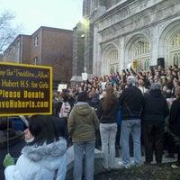 Photo taken at St. Hubert's Catholic High School For Girls by Meghan on 1/26/2012
