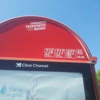 Photo taken at Parada Autobus 903-049, Lineas 716 717 827 by Alberto V. on 8/2/2012