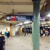 Photo taken at MTA Subway - 59th St/Columbus Circle (A/B/C/D/1) by Jamell M. on 8/20/2012