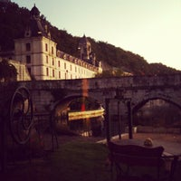 Photo taken at Le Moulin De L Abbaye Hotel Brantome by Gaby K. on 10/14/2011