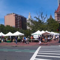Photo taken at Copley Square Farmer's Market by Sarah C. on 8/7/2012