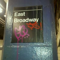 Photo taken at MTA Subway - East Broadway (F) by Lisa G. on 1/13/2011