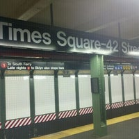 Photo taken at MTA Subway - 42nd St/Times Square/Port Authority Bus Terminal (A/C/E/N/Q/R/S/W/1/2/3/7) by daniel h. on 5/24/2011