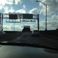 Photo taken at General Pulaski Skyway by Eddie C. on 3/9/2012