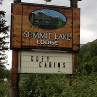 Photo taken at Summit Lake Lodge by Angela L. on 8/3/2012