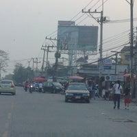 Photo taken at ตลาดนัดหน้าหมู่บ้าน by Sabrin E. on 3/28/2012
