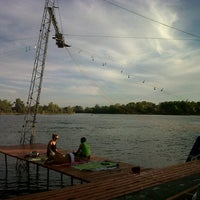 Photo taken at Dunaharaszti Wakeboard by Melinda M. on 9/10/2012