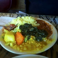 Photo taken at Queen Sheba Ethopian Restaurant by Haley C. on 1/13/2012