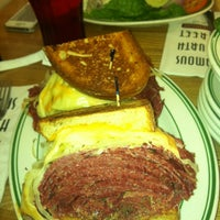 Photo taken at Famous 4th Street Delicatessen by Kim S. on 6/2/2012