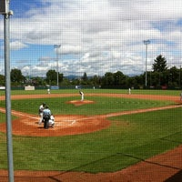 Photo taken at Mainz Athletics Ballpark by Stefan S. on 7/14/2012