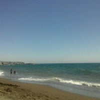 Photo taken at Playa Rio Seco by Vicky G. on 8/25/2012