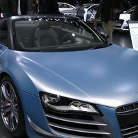 Photo taken at Audi Stand at Detroit Auto Show by Sharon U. on 1/17/2012
