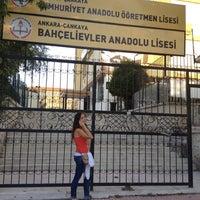 Photo taken at Bahçelievler Anadolu Lisesi by Tolga A. on 8/31/2012