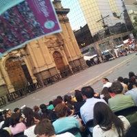 Photo taken at Santiago a Mil (Plaza de La Constitución) by Rodrigo V. on 1/5/2012