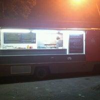 Photo taken at Soul Food Bus by Marek I. on 1/8/2012