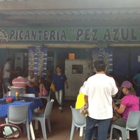 Photo taken at El Pez Azul Express by Sergio B. on 7/15/2012