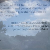 Photo taken at Westbury Club House by Ginger R. on 4/21/2012